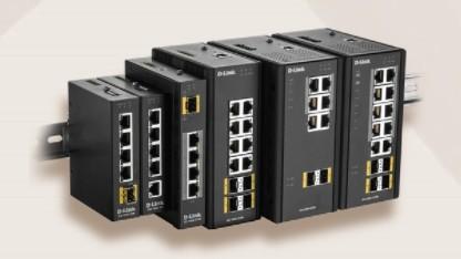 Die D-Link-Switches lassen sich an DIN-Schienen anbringen.