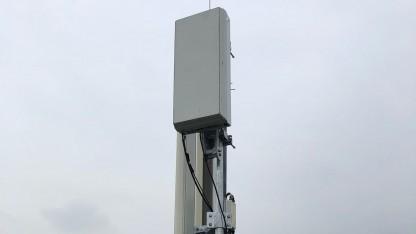 Eine 5G-Antenne von T-Mobile Austria