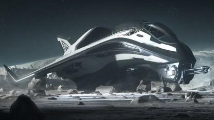 Raumschiff in der Welt von Star Citizen