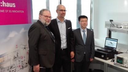 Vertreter von Intel, Telekom und Huawei (v. l. n. r.)