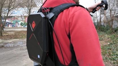 Der Omen X VR ist kompakt, leicht und komfortabel zu tragen.