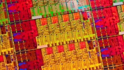 Wafer einer Haswell-CPU, die von Meltdown und Spectre betroffen ist