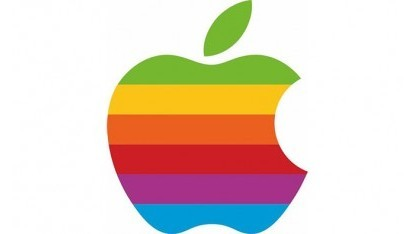 Das gestreifte Apple-Logo