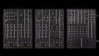 Die drei Cabinets des Synthesizer IIIp