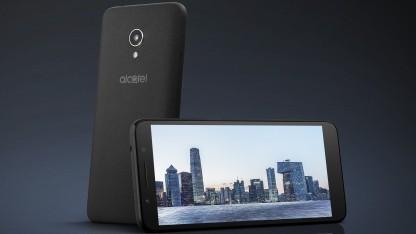 Alcatel 1x läuft mit Android Go.