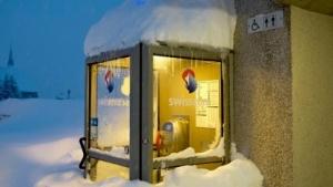 Eine Swisscom-Telefonzelle