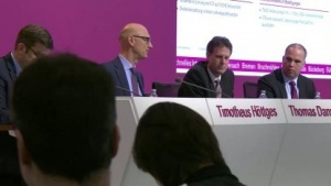 Die Führungsriege bei der Bilanzpressekonferenz