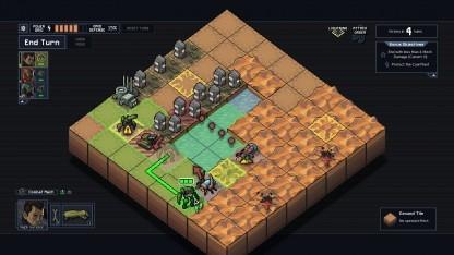 Into the Breach spielt auf einem acht mal acht Felder großen Spielfeld.