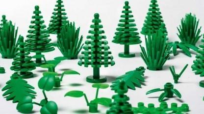 Diese Lego-Elemente bestehen aus Kunststoff auf pflanzlicher Basis.