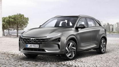Brennstoffzellenauto Hyundai Nexo: Die Energieeffizienz der Wasserstoffnutzung ist umstritten.