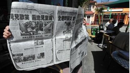 Chinesische Zeitung (Symbolbild): Das System lernte aus seinen eigenen Fehlern.