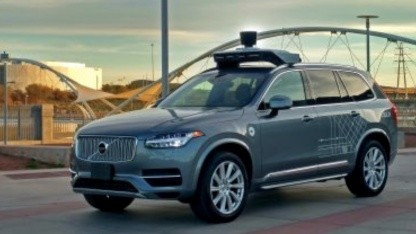 Selbstfahrender Volvo von Uber: mehr Probleme als Waymo