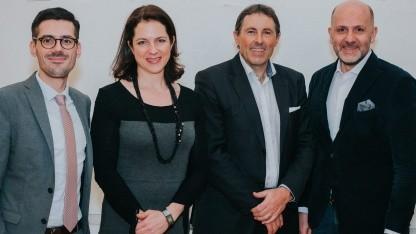 Markus Kiesenhofer, Corinna Drumm, Reiner Müller, Wolfgang Struber (v. l. n. r.)