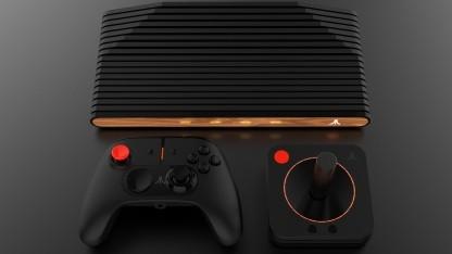Neben einem Gamepad wird es für das moderne Atari VCS auch einen klassischen Joystick geben.