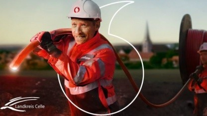 Vodafone-Werbung in Celle