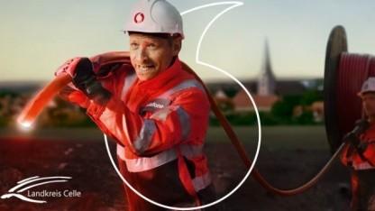 Vodafone-Werbung in Celle