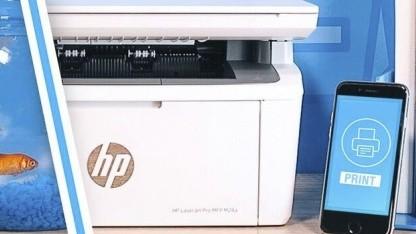 Der HP Laserjet Pro M28w kann mit dem Smartphone verwendet werden.