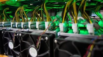 Eine Bitcoin-Mining-Farm