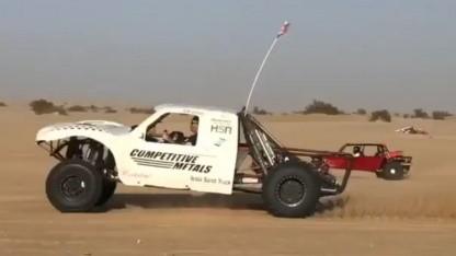Tesla Sand Truck: 40 bis 48 km Reichweite auf sandigem Untergrund