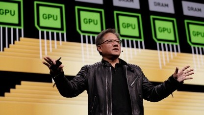 Nvidia-CEO Jensen Huang bei seiner Keynote auf der GTC 2018