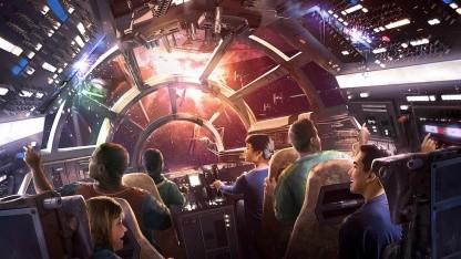 Gäste des Parks können eine Runde im Millenium Falcon drehen.