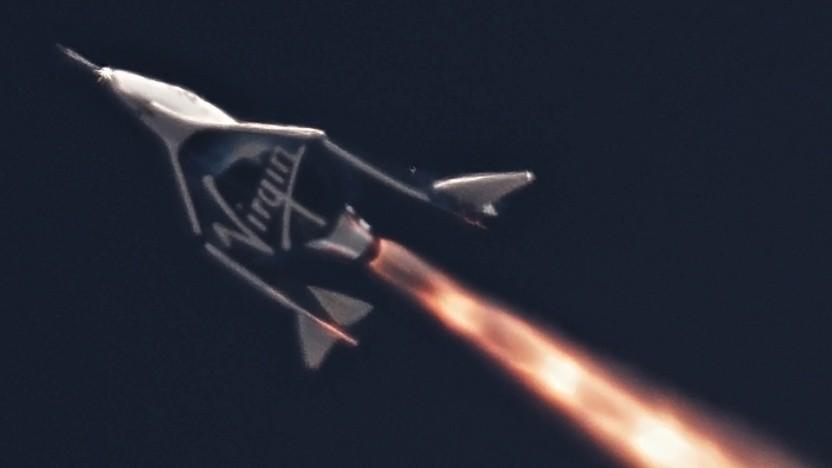 Nach dem tödlichen Unfall von 2014 flog Spaceship Two erstmals wieder mit Raketentriebwerk.