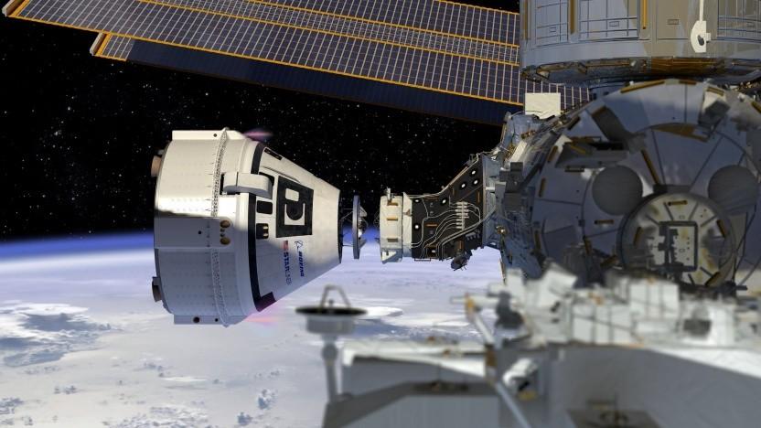 Künstlerische Darstellung des Starliners an der ISS: Ist das Raumfahrzeug sicher?