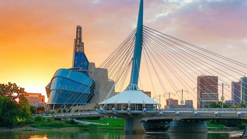 Innenstadt von Winnipeg, Kanada