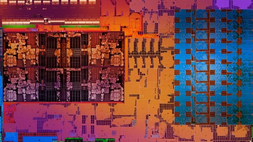 Die-Shot eines Raven Ridge mit Zen-GPU, VCN und Vega-GPU.