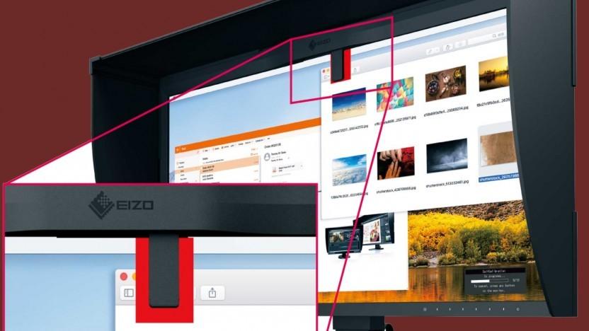 Eizos Monitor hat einen eingebauten Kalibrierungsmesser.