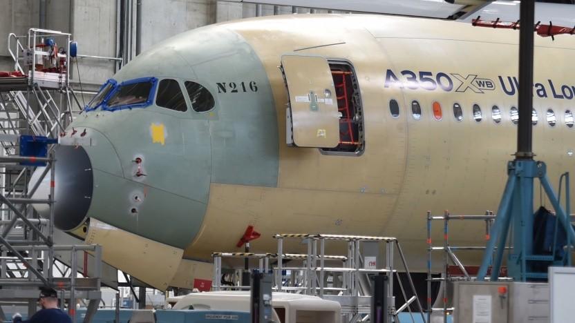 In Airbus-Maschinen sollen  bald OLED-Displays eingebaut werden (Symbolbild).