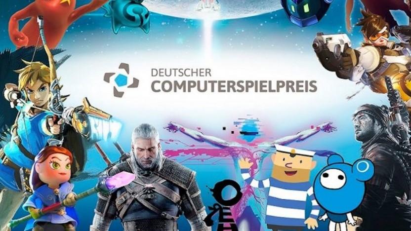 Das Logo des Deutschen Computerspielpreises