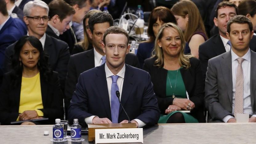 Facebook-Chef Mark Zuckerberg in einer Anhörung vor dem US-Senat