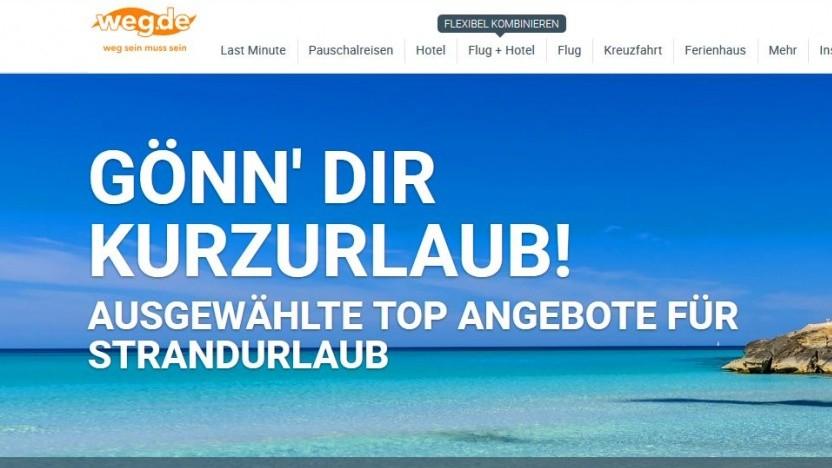 Blauer Himmel auf der Webseite