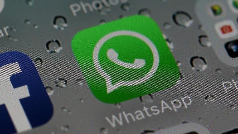 Logo von Whatsapp auf einem Smartphone.
