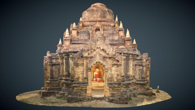 Das 3D-Modell des Eim-Ya-Kyaung-Tempels in Myanmar