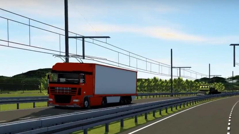 Lkw mit Oberleitung