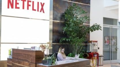 Am Netflix-Hauptsitz