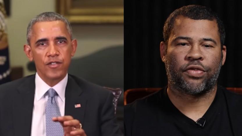 Obamas Gesichtsausdruck wird vom Schauspieler vorgegeben.