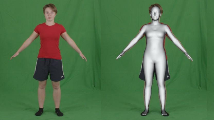 Der KI-Algorithmus wandelt Personen in 3D-Modelle um.