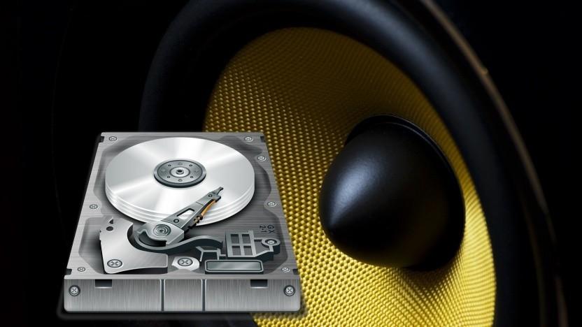 Durch hohe laute Töne können Festplatten beschädigt werden.