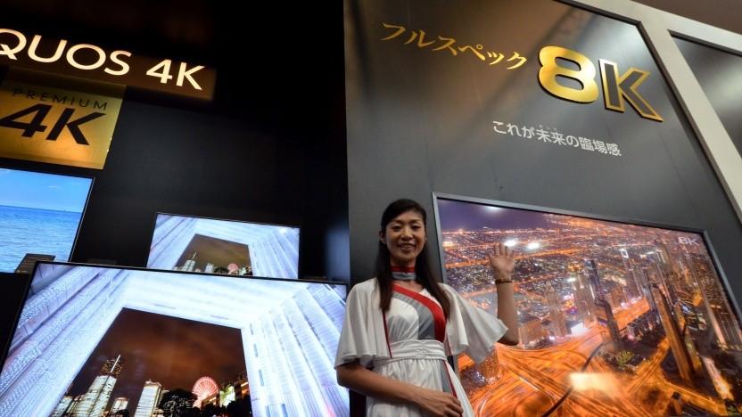 8K-Fernseher von Sharp (Symbolbild)