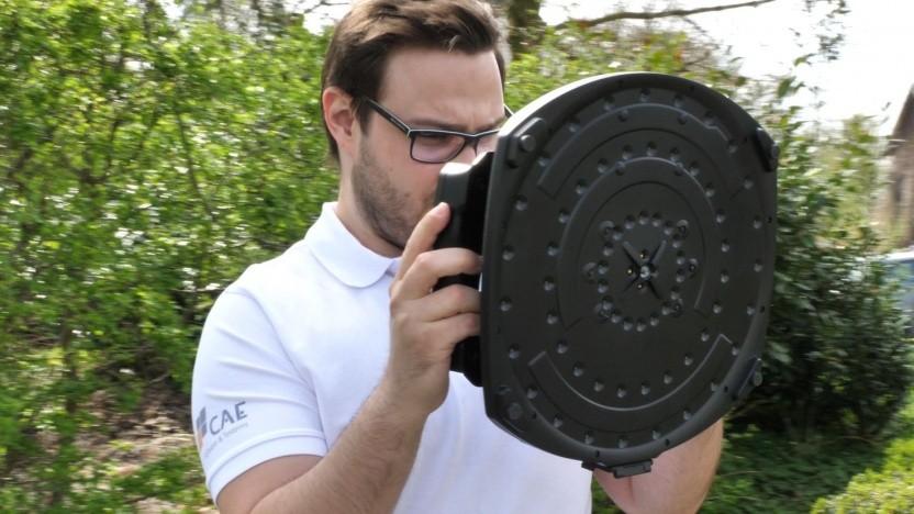 Soundcam im Einsatz: eine Kamera, die Geräusche sieht