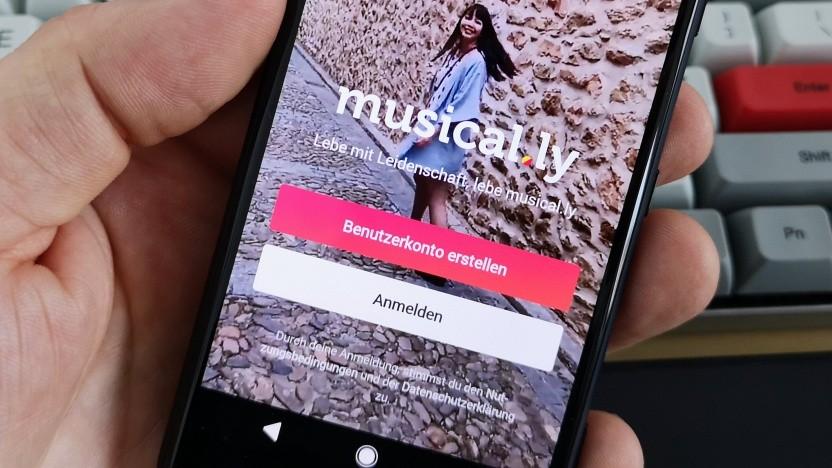 Die Video-App Musical.ly ist bei Jugendlichen gefragt.