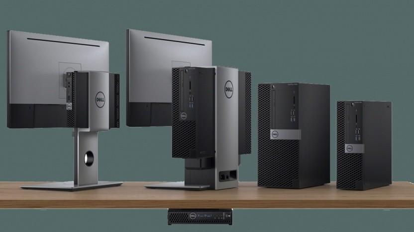 Die neuen Optiplex-Desktops kommen in drei Größen.