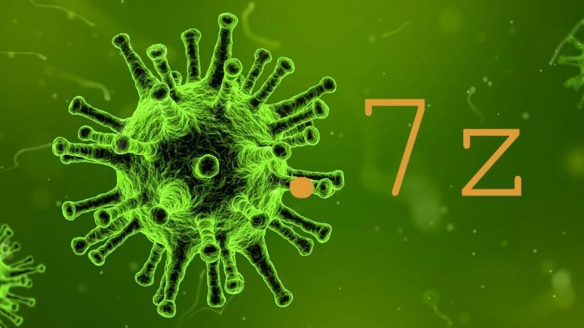 7-Zip-Archive könnten infiziert sein.