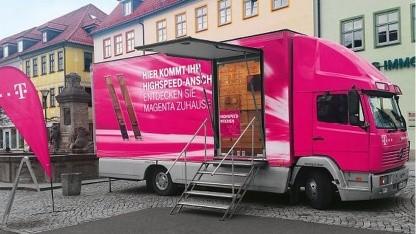 Infotruck der Telekom für den Ausbau