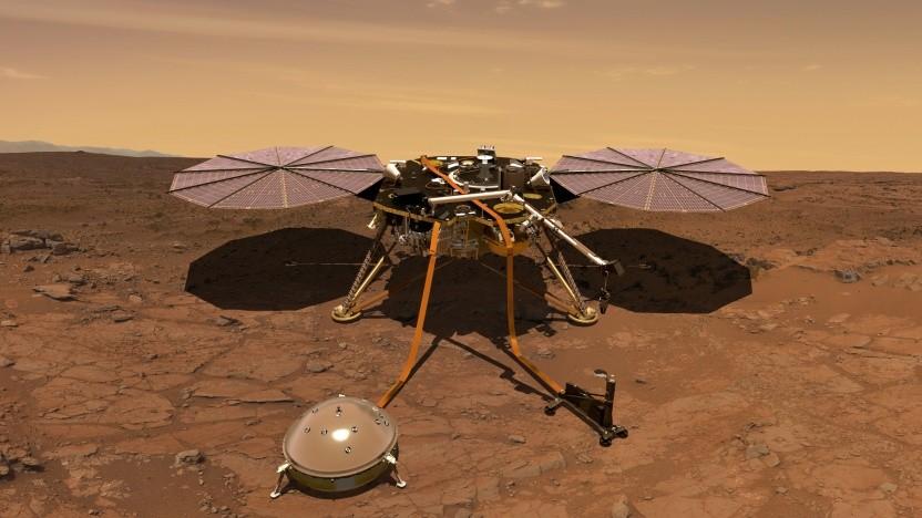 Mars Insight soll mit wissenschaftlichen Instrumenten das Marsinnere untersuchen.