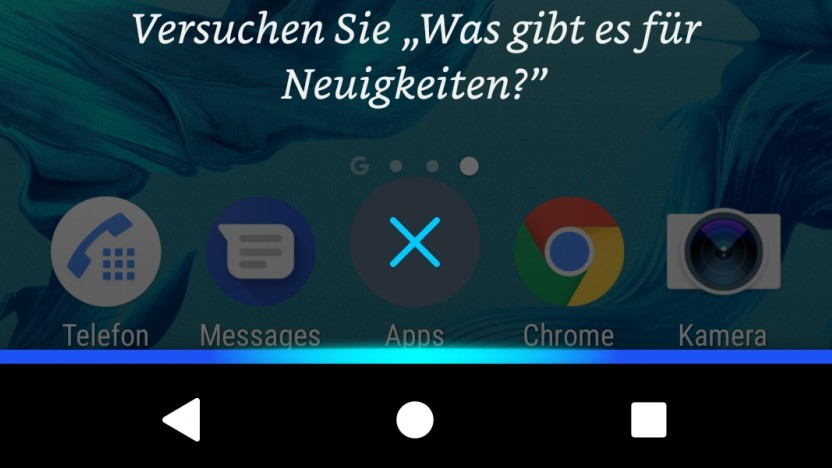 Alexa-Aufruf auf einem Android-Smartphone