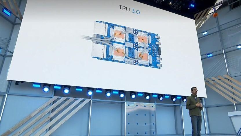 Die TPUv3 benötigen eine Flüssigkeitskühlung.